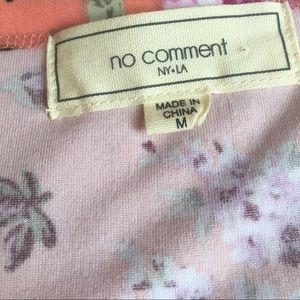 No Comment Tops - No Comment floral vneck super soft t shirt